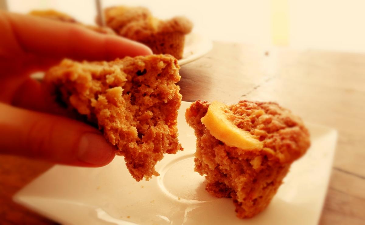 Muffins de marmelo e malte / Malty quince muffins