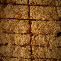 Barras de cereais com amaranto e batata doce /Energy bars with amaranth and sweet potato