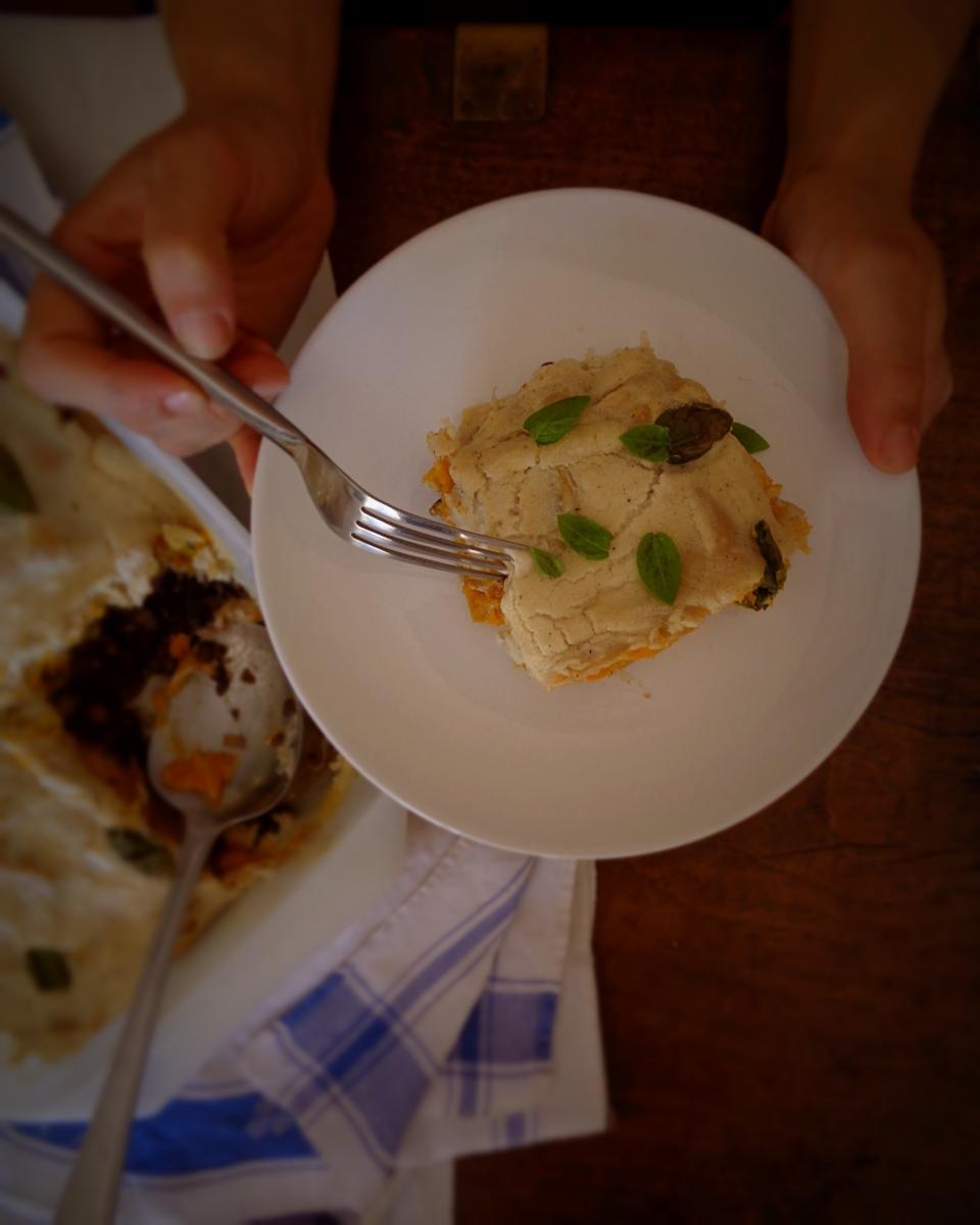 Lasanha vegan de Outono // Vegan Autumn Lasagna