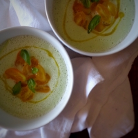 A melhor sopa fria de pepino / The best chilled cucumber soup