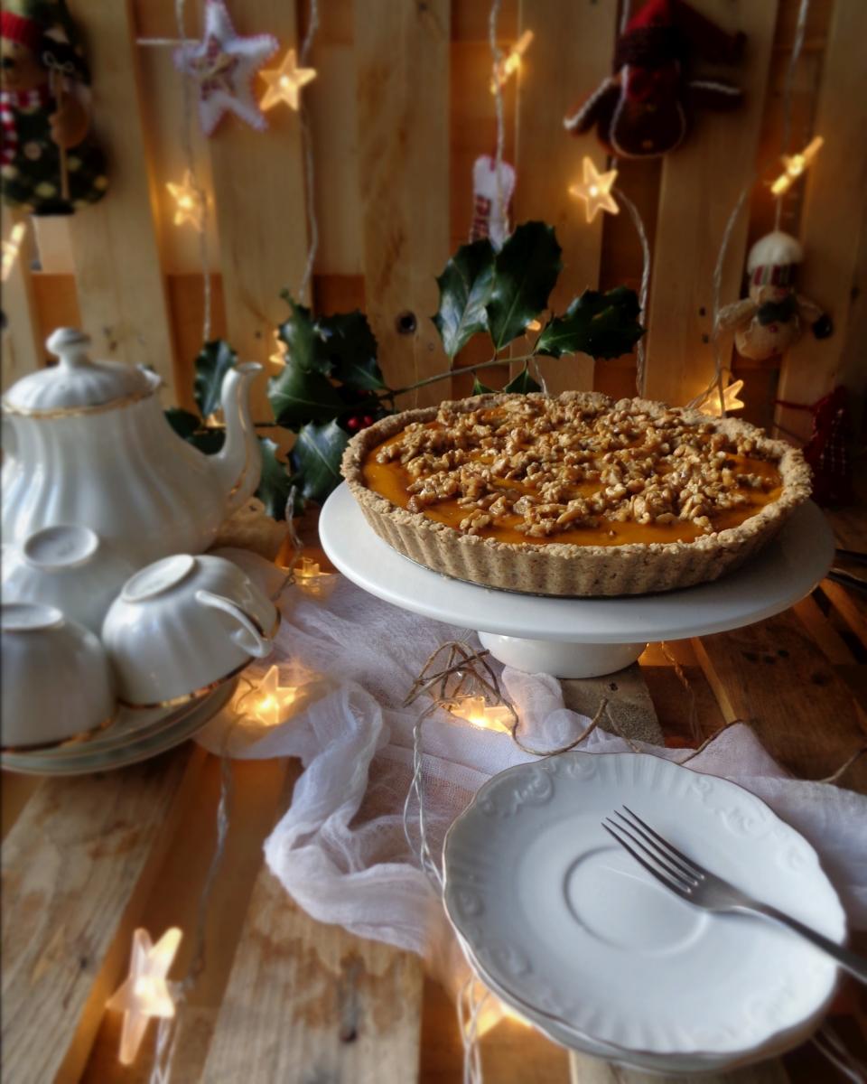 Tarte de abóbora com praline de noz + Natal 2016 // Pumpkin pie with walnut praline + Christmas 2016