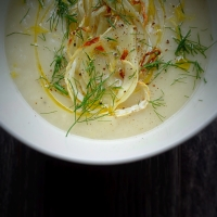 Sopa cremosa de funcho e limão / Creamy fennel and lemon soup