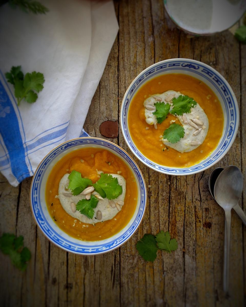 Sopa anti-inflamatória de cenoura / Anti-inflammatory carrot soup