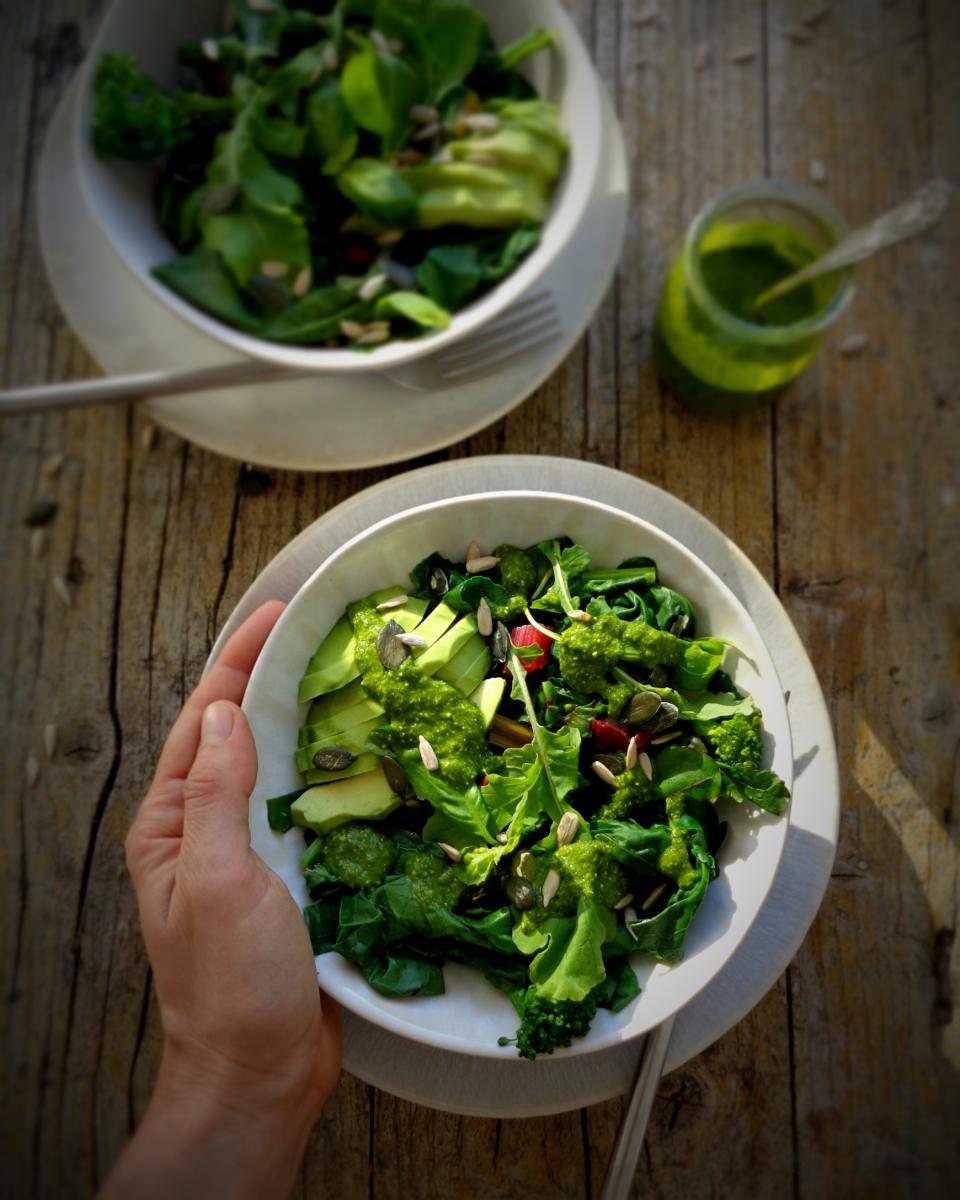 Salada muito verde para o Inverno / A very green winter salad